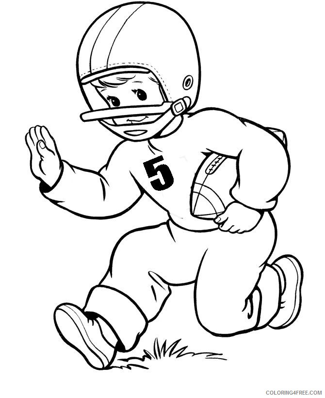 free football player coloring pages for kids Coloring4free