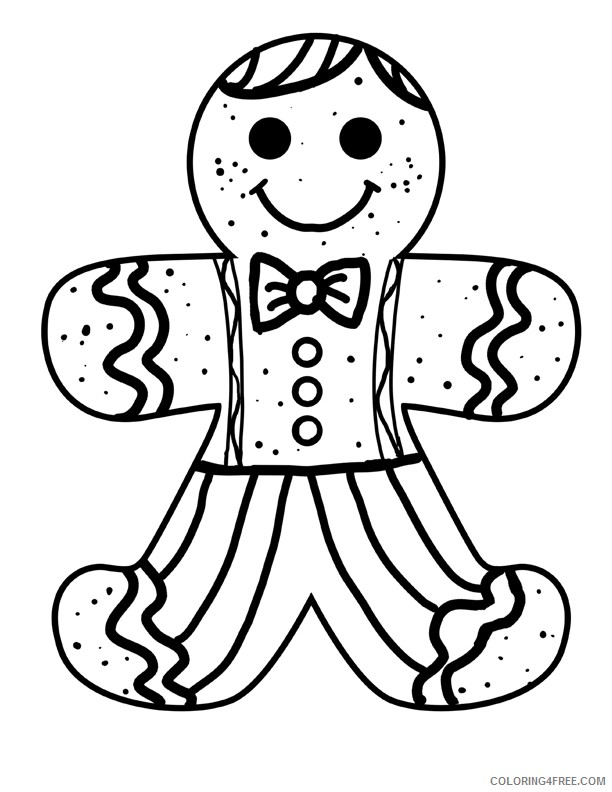 free gingerbread man coloring pages to print Coloring4free