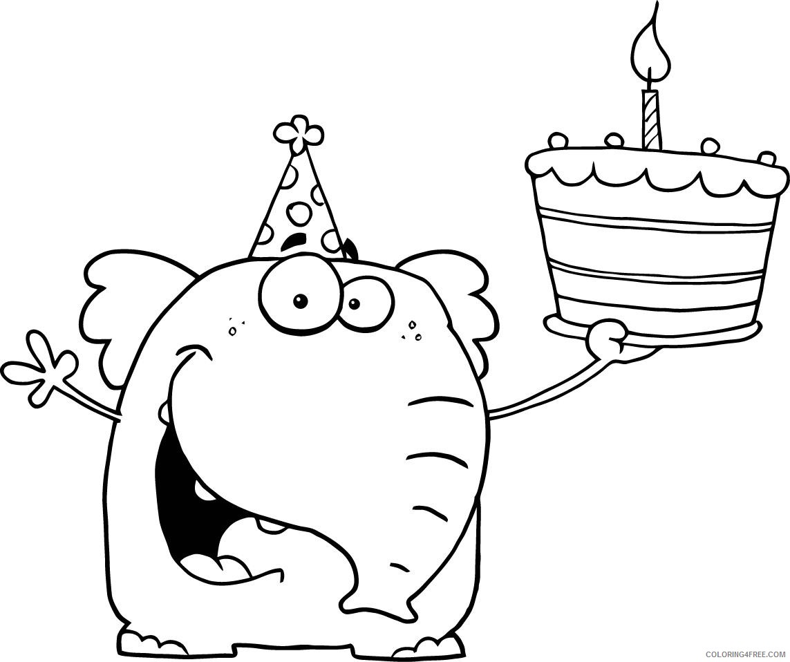 free happy birthday coloring pages for kids Coloring4free