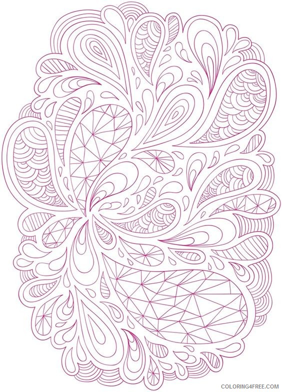 free hard coloring pages for adults Coloring4free