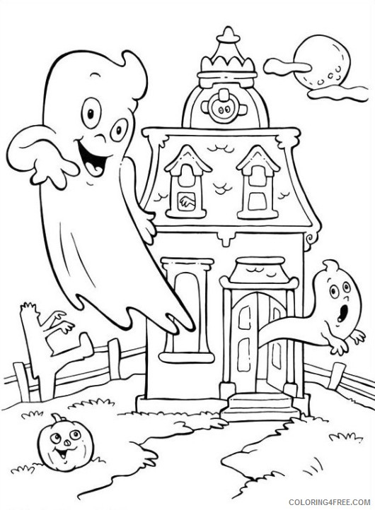 free haunted house coloring pages for kids Coloring4free