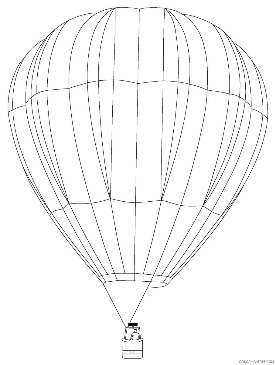 free hot air balloon coloring pages Coloring4free