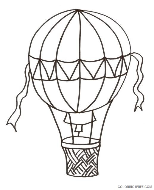 free hot air balloon coloring pages for kids Coloring4free