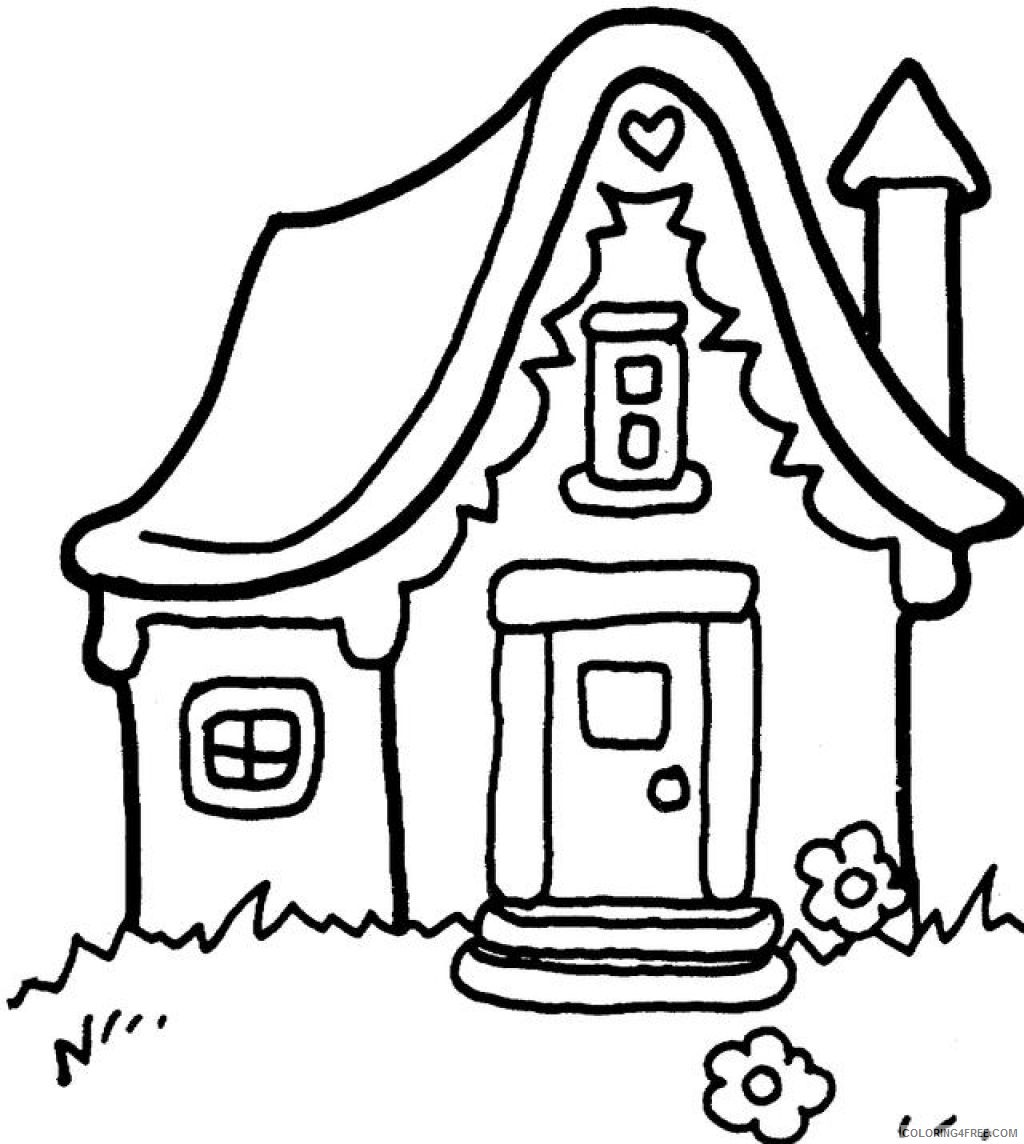 free house coloring pages for kids Coloring4free