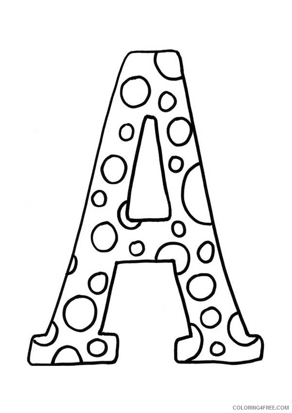 free letter a coloring pages for kids Coloring4free