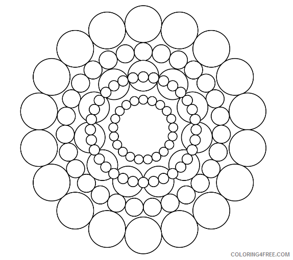 free mandala coloring pages for kids Coloring4free