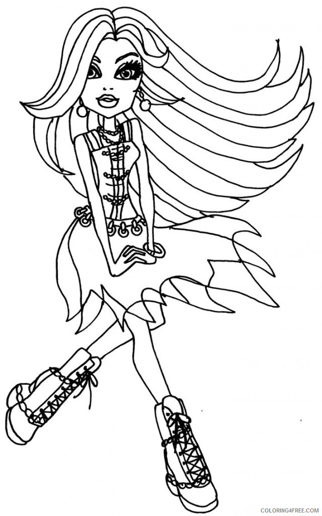 free monster high coloring pages for kids Coloring4free