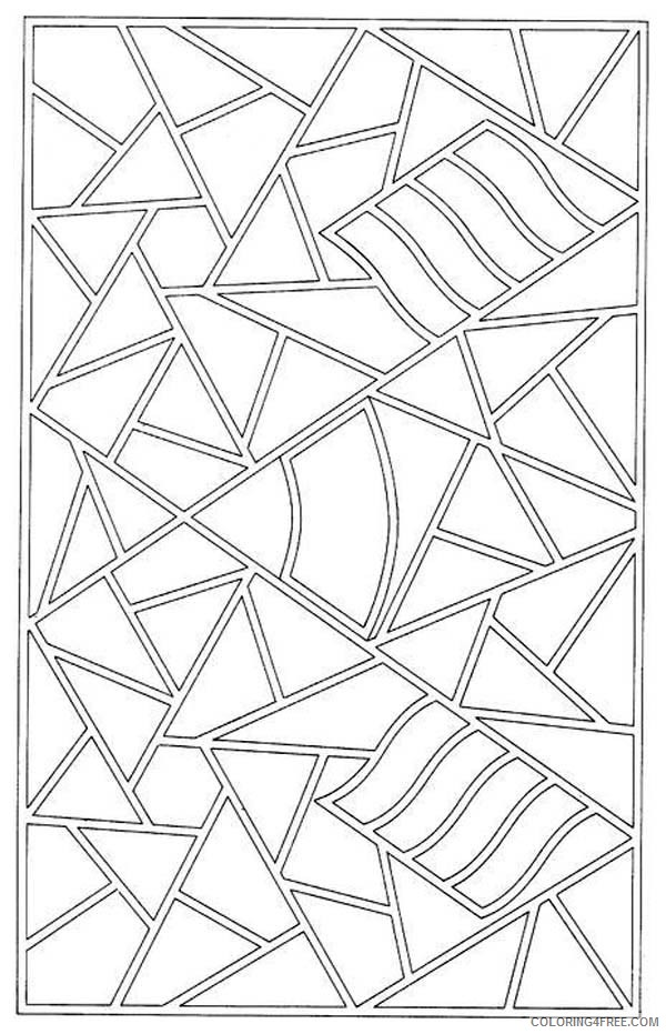free mosaic coloring pages for kids Coloring4free