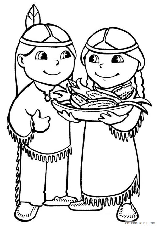 free native american coloring pages for kids Coloring4free