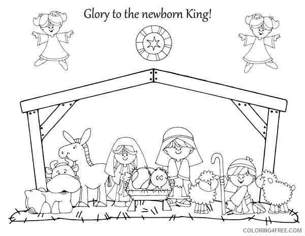 free nativity coloring pages Coloring4free