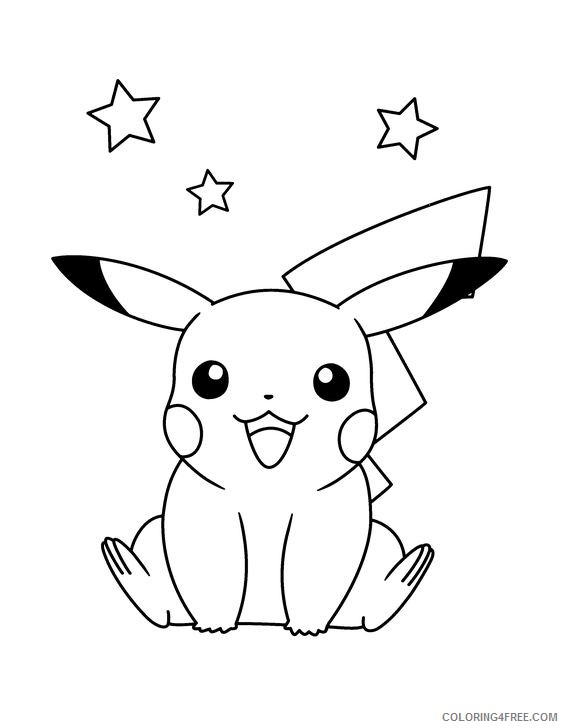free pikachu coloring pages to print Coloring4free