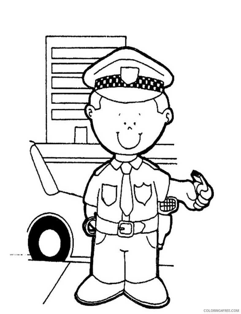 free police coloring pages for kids Coloring4free