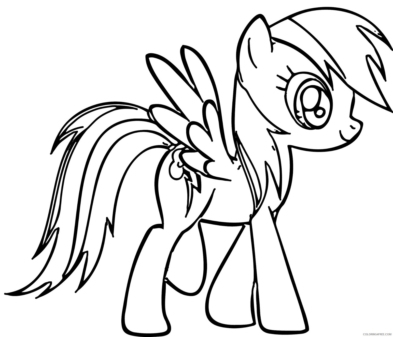 free printable my little pony coloring pages Coloring4free