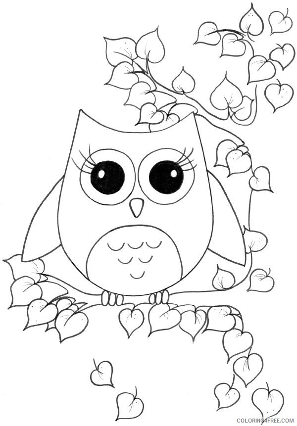 free printable owl coloring pages Coloring4free