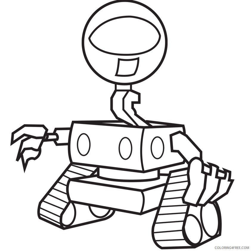 free robot coloring pages printable Coloring4free