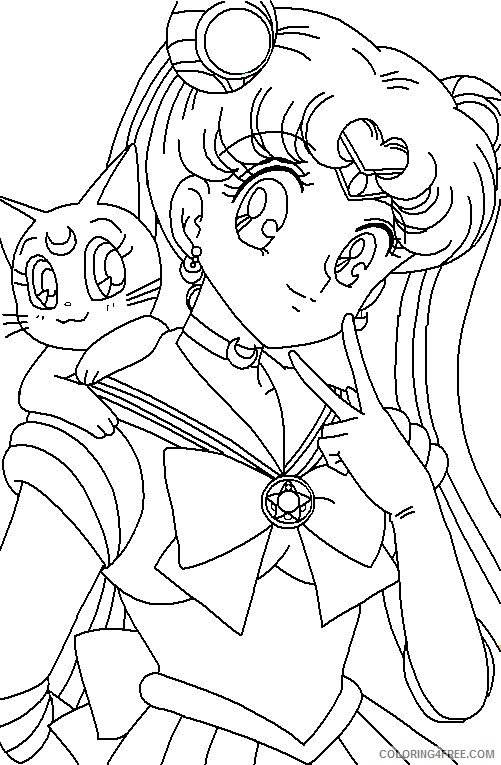 free sailor moon coloring pages for kids Coloring4free