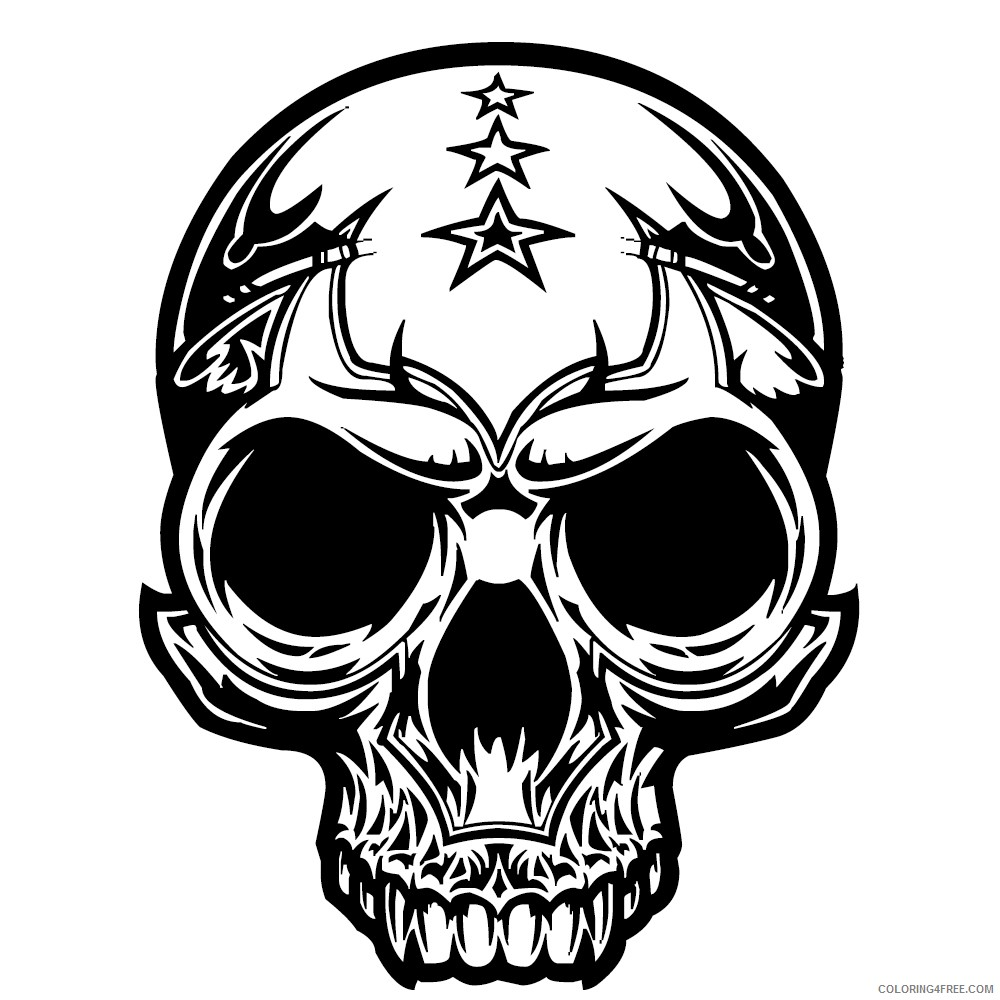 free skull coloring pages to print Coloring4free