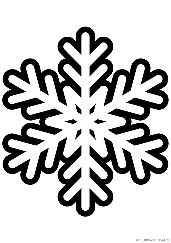 free snowflake coloring pages for kids Coloring4free
