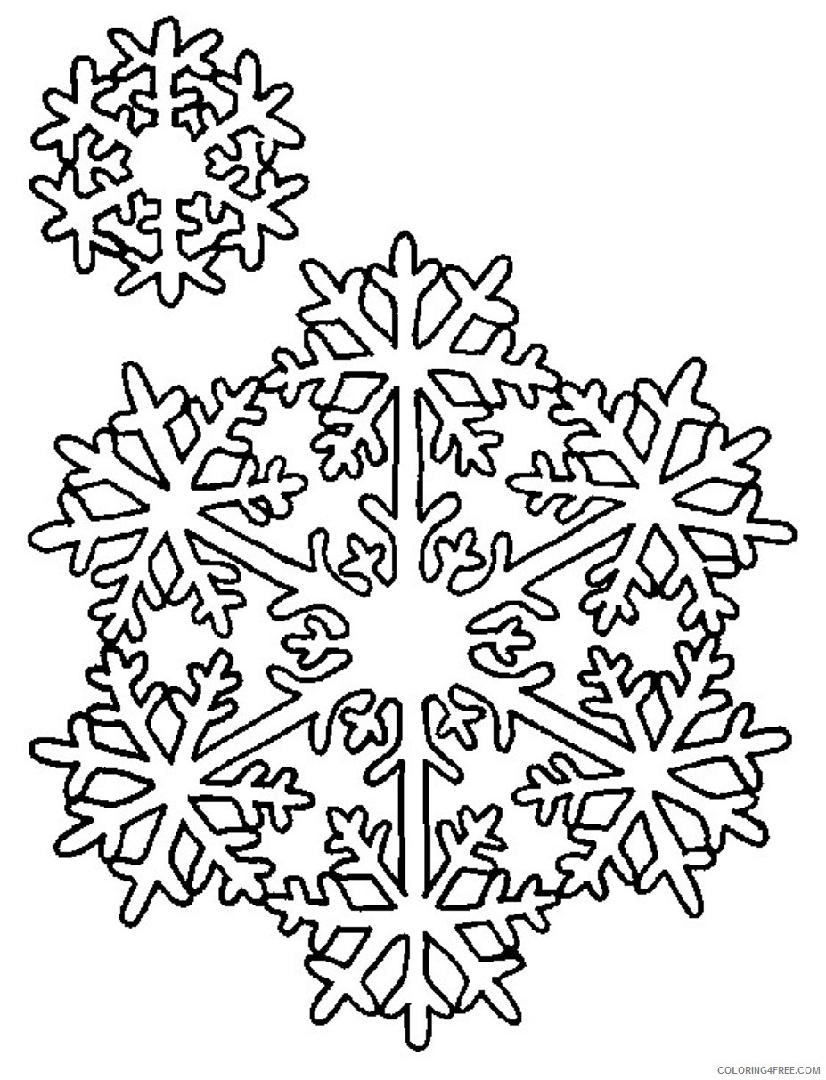 free snowflake coloring pages printable Coloring4free