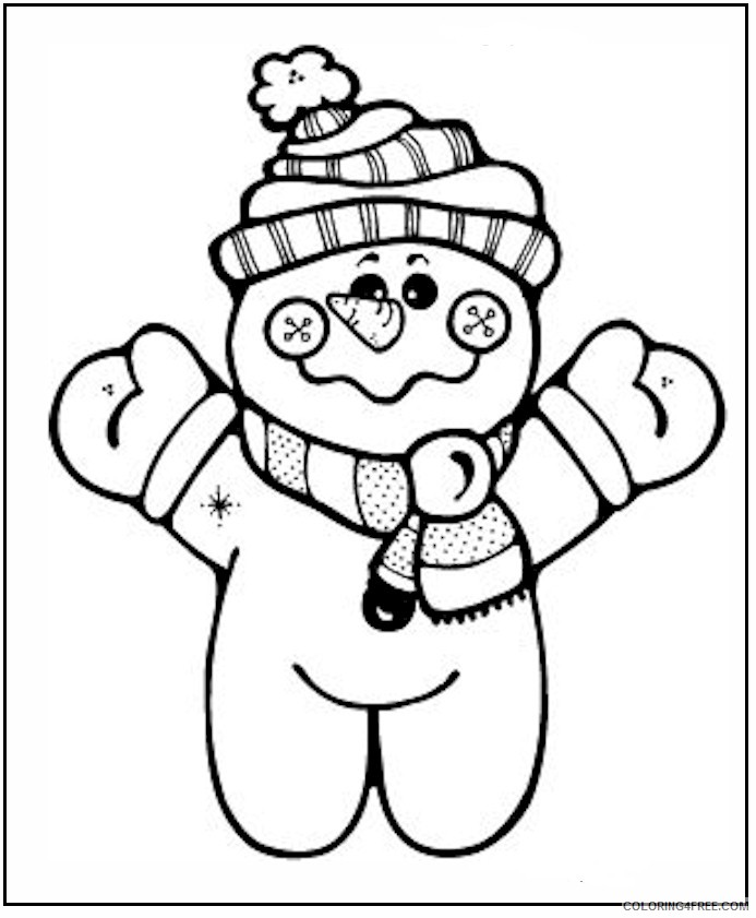 free snowman coloring pages for kids Coloring4free