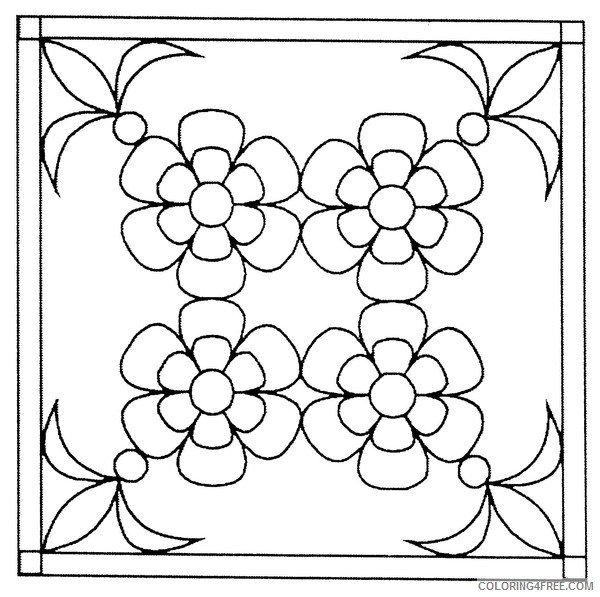 free stained glass coloring pages for kids Coloring4free