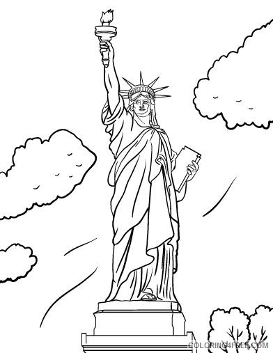 free statue of liberty coloring pages for kids Coloring4free