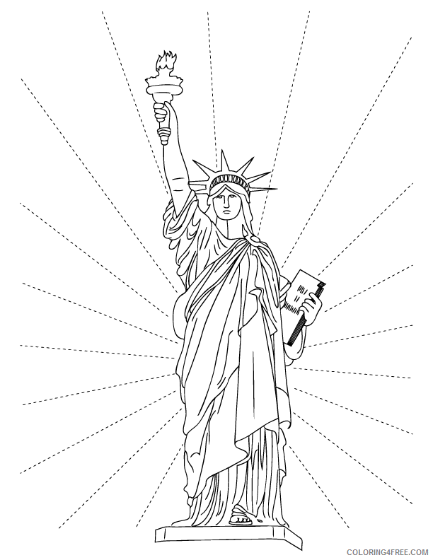 free statue of liberty coloring pages to print Coloring4free