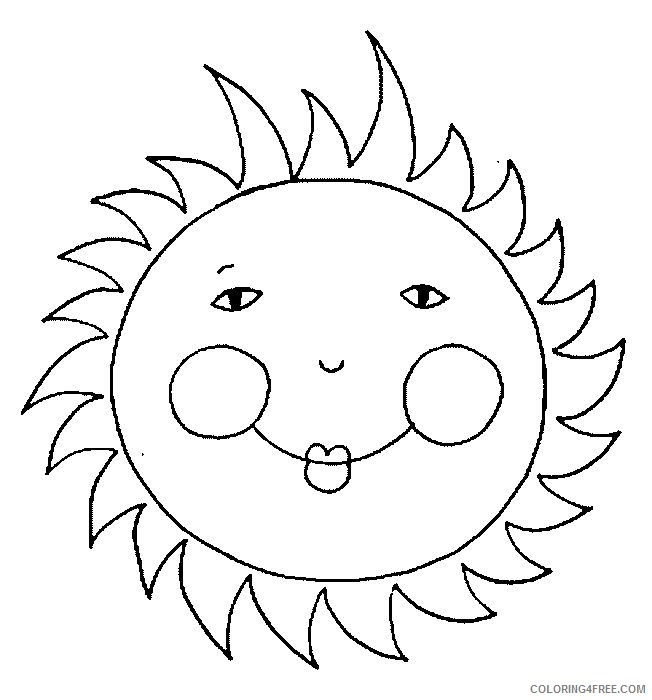 free sun coloring pages for kids Coloring4free