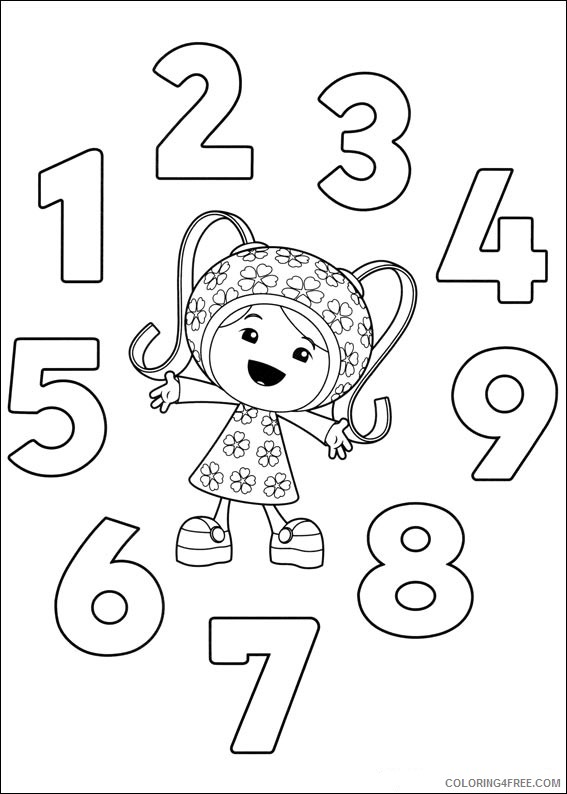 free team umizoomi coloring pages for kids Coloring4free