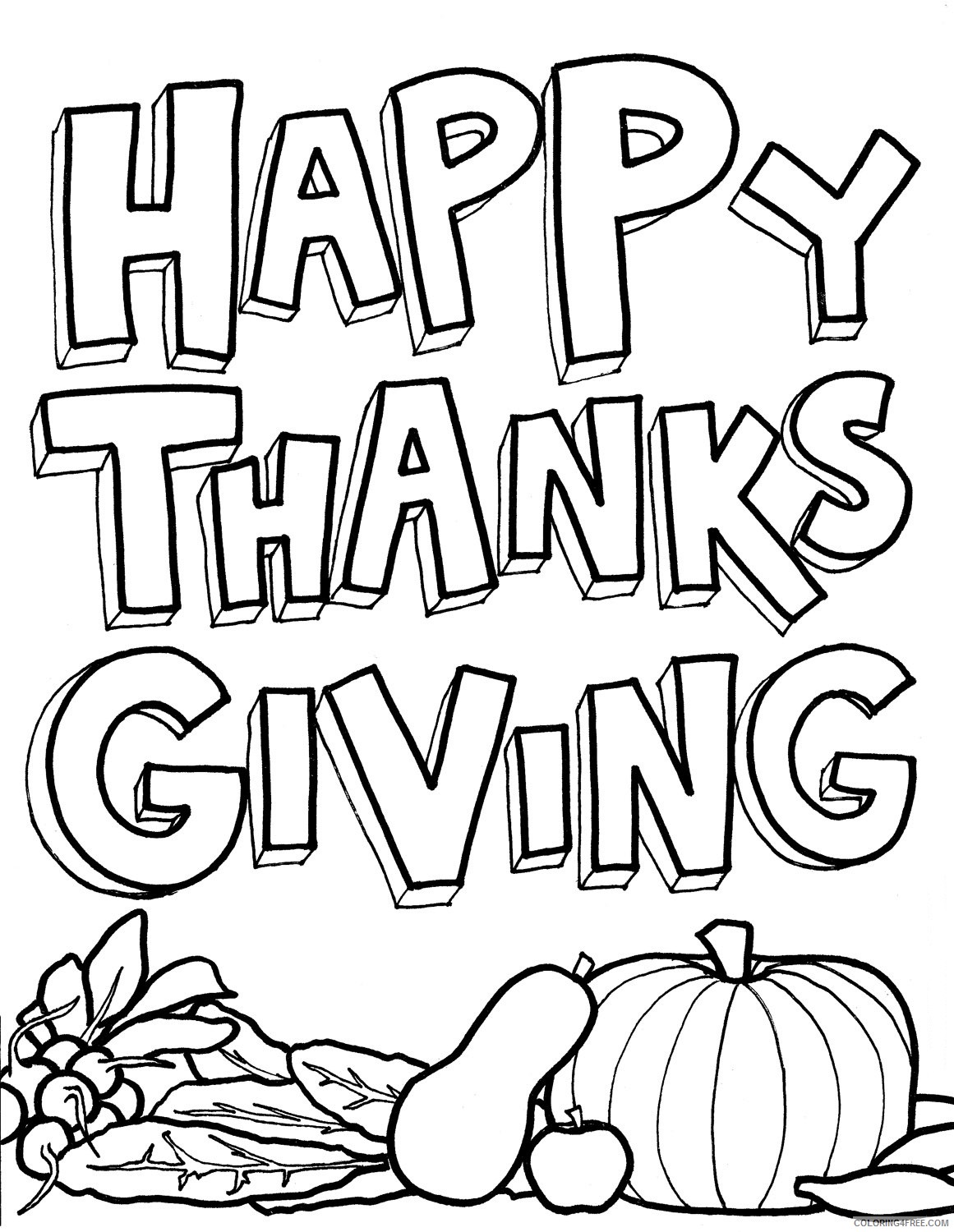 free thanksgiving coloring pages Coloring4free