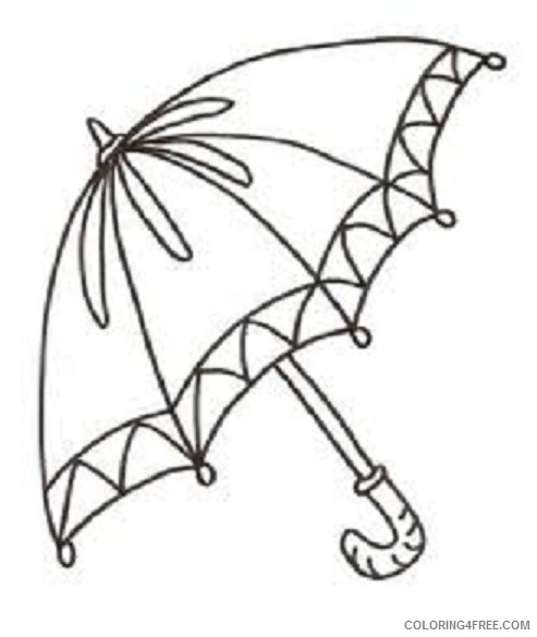 free umbrella coloring pages to print Coloring4free