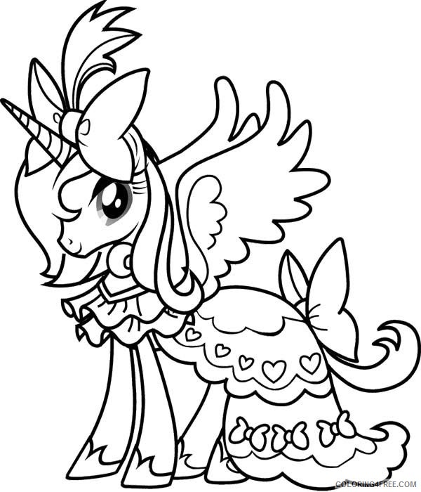 free unicorn coloring pages for girls Coloring4free