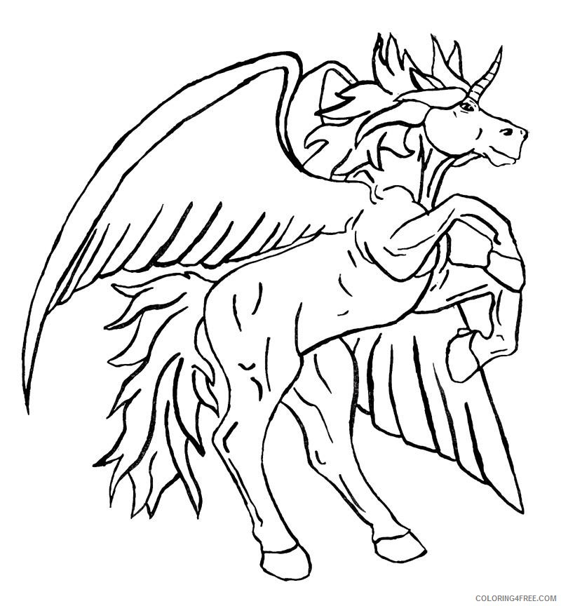 free unicorn coloring pages to print Coloring4free