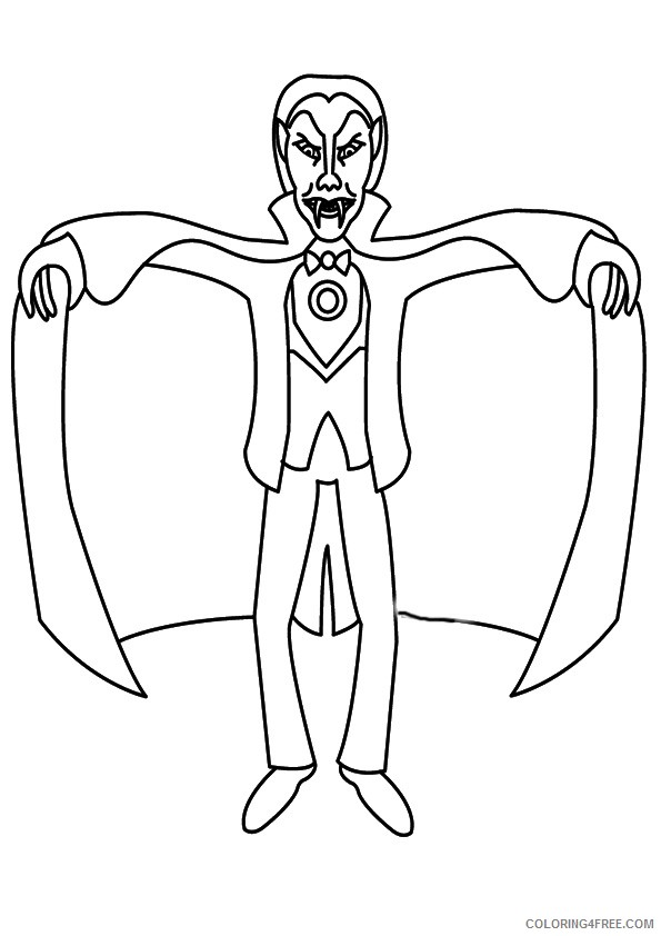 free vampire coloring pages to print Coloring4free
