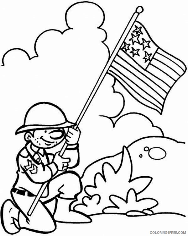 free veterans day coloring pages for kids Coloring4free