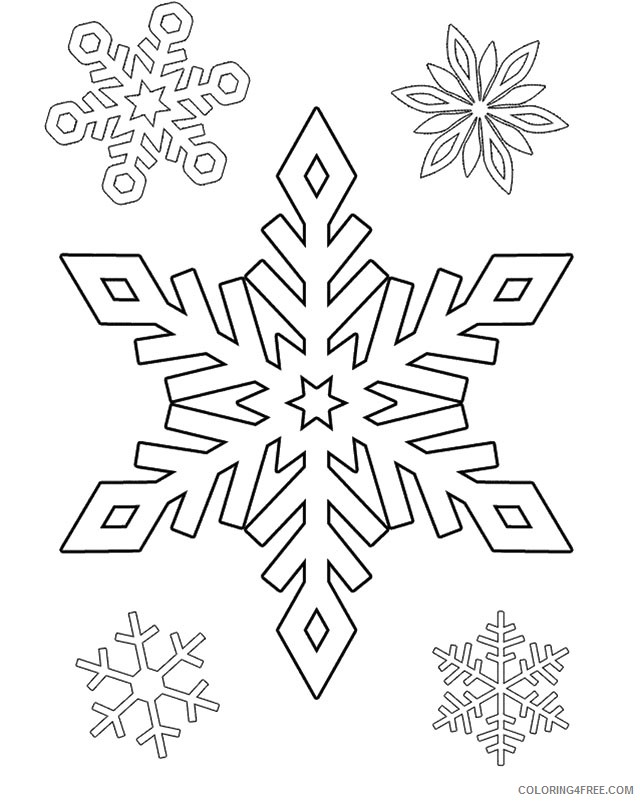 frozen snowflake coloring pages Coloring4free