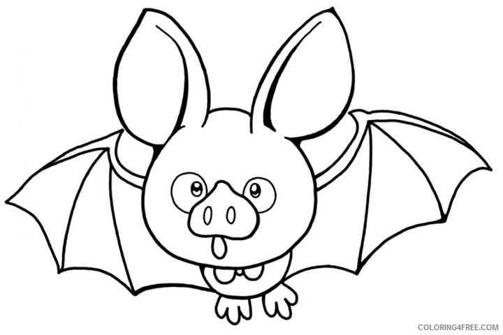 funny bat coloring pages Coloring4free