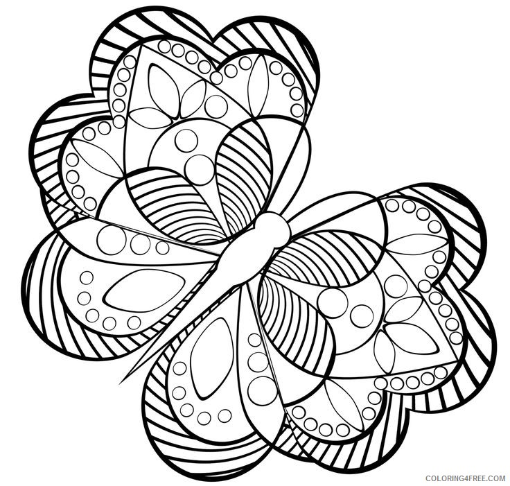 geometric coloring pages butterfly shaped Coloring4free