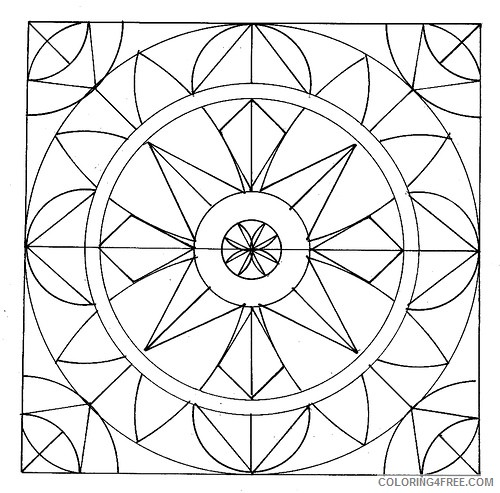 geometric coloring pages circles and curves Coloring4free