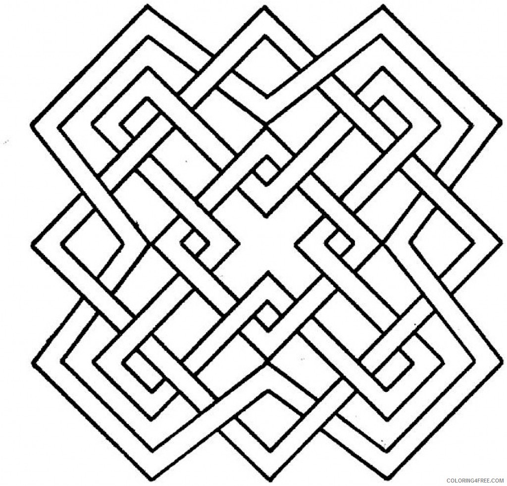 geometric coloring pages for kids Coloring4free