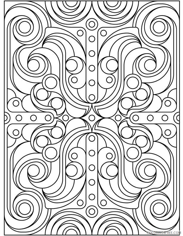 geometric coloring pages free to print Coloring4free