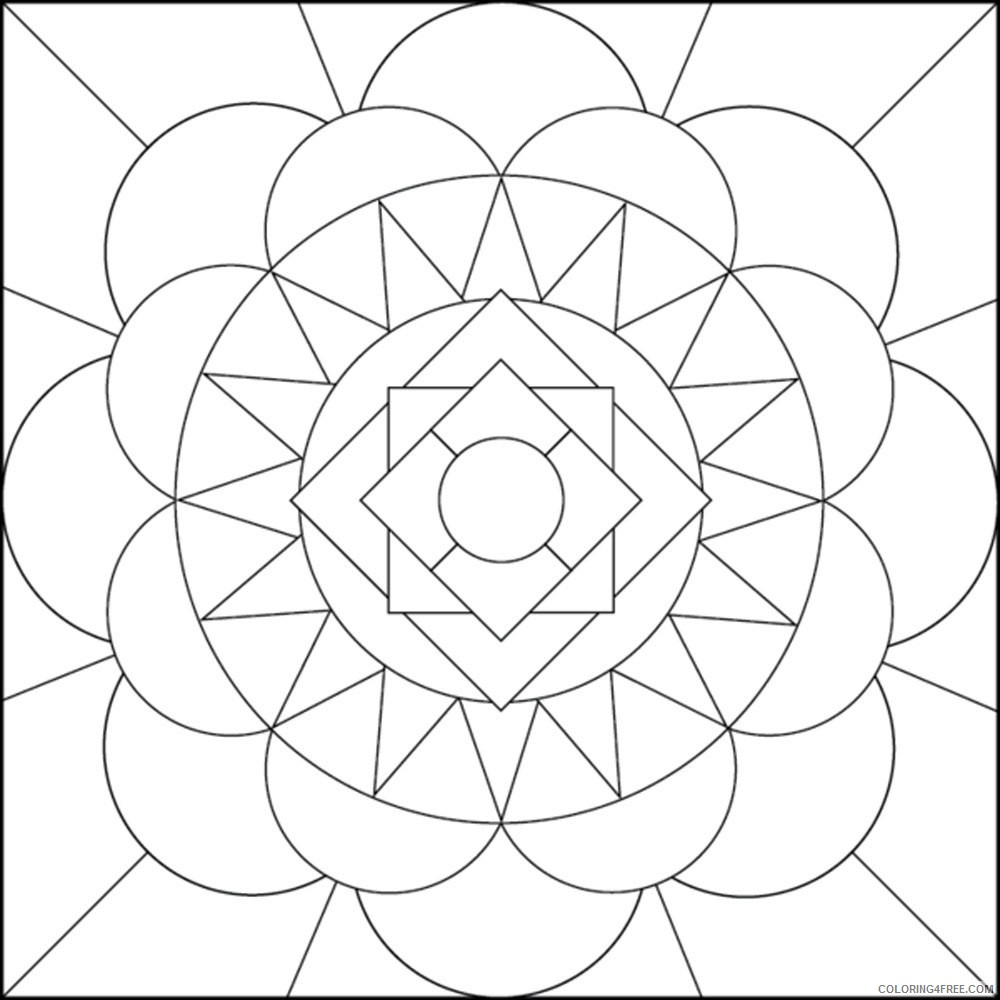 geometric coloring pages lines and curves Coloring4free