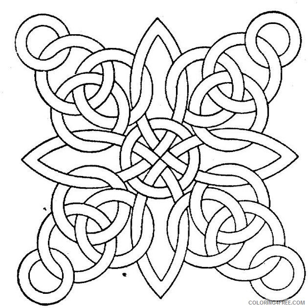 geometric coloring pages printable Coloring4free