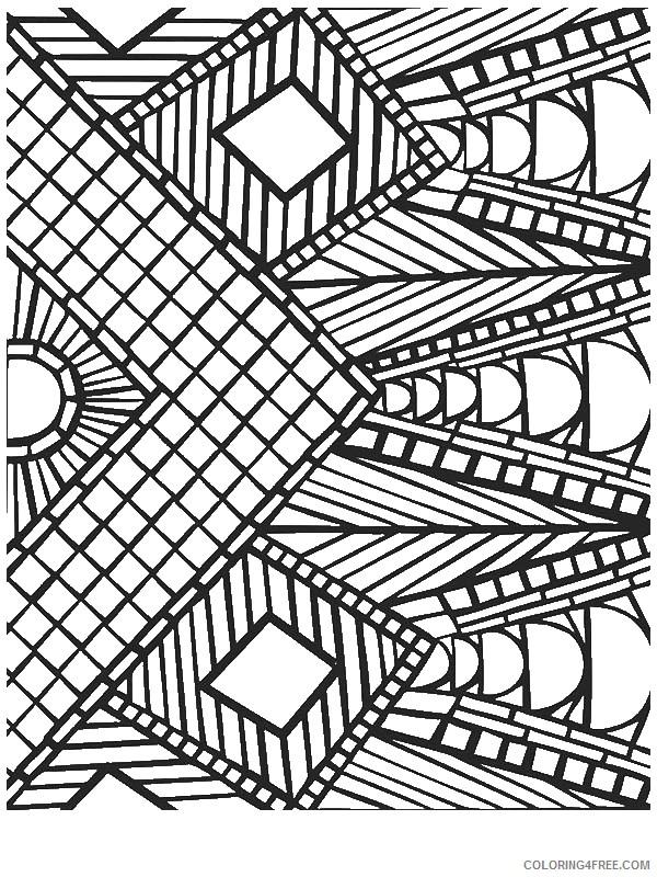 geometric coloring pages square mandala Coloring4free