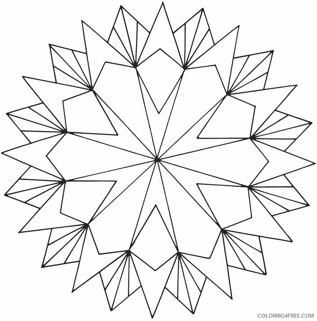 geometric coloring pages star Coloring4free
