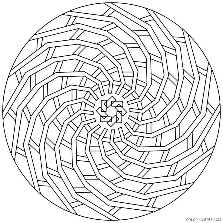 geometric coloring pages to print Coloring4free