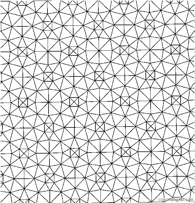 geometric design coloring pages for adults Coloring4free