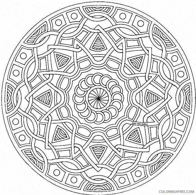 geometric mandala coloring pages printable Coloring4free