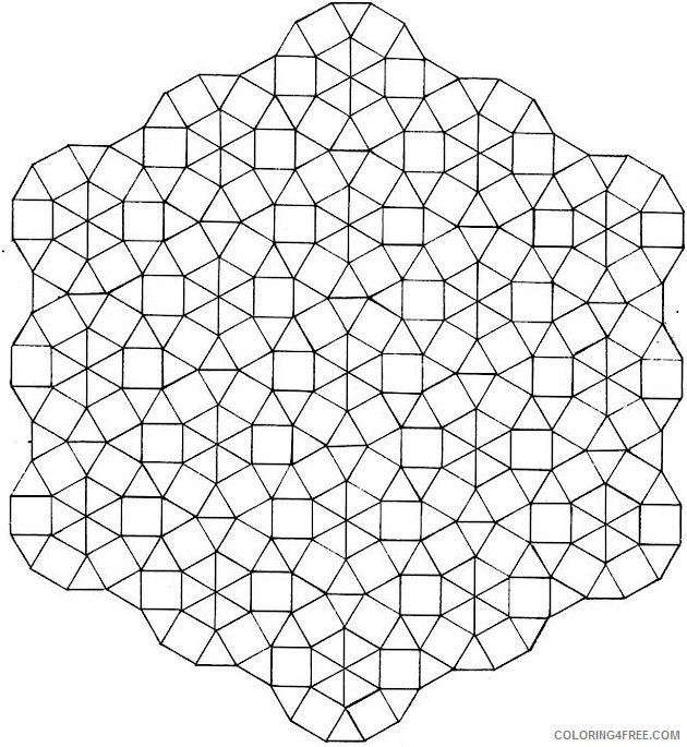 geometric shaped coloring pages Coloring4free