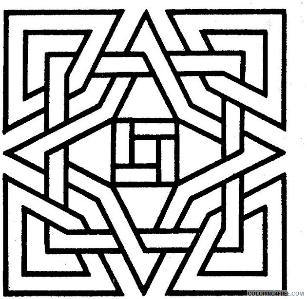 geometric square coloring pages for kids Coloring4free